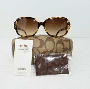 Coach Tortoise Leopard Style Brown Sunglasses